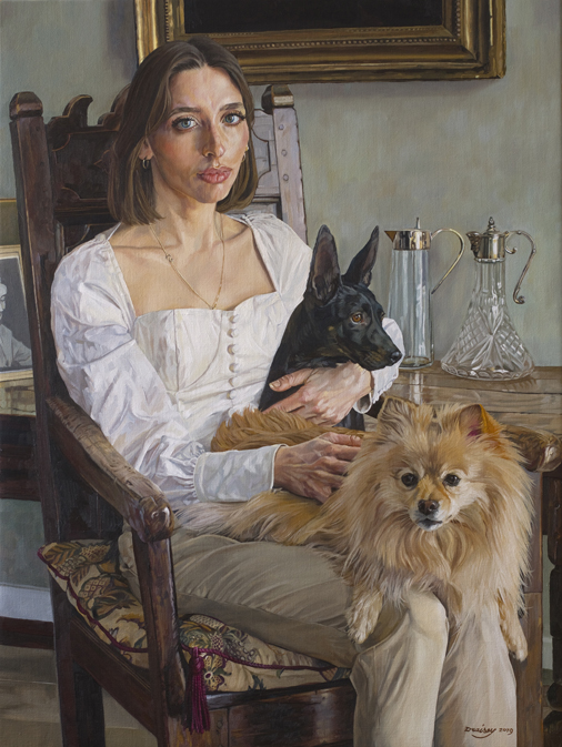 Sophia and dogs.