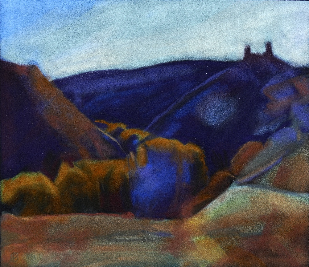 Ruined Castle , Pelegrina. Pastel