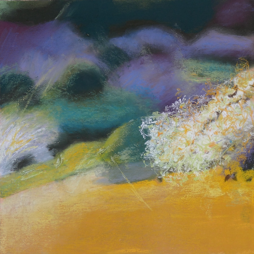 Blossoms in the Valley. Mixed Media