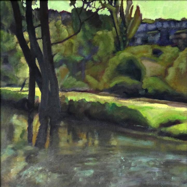 Alberto\'s Picnic Place. Oil Sketch