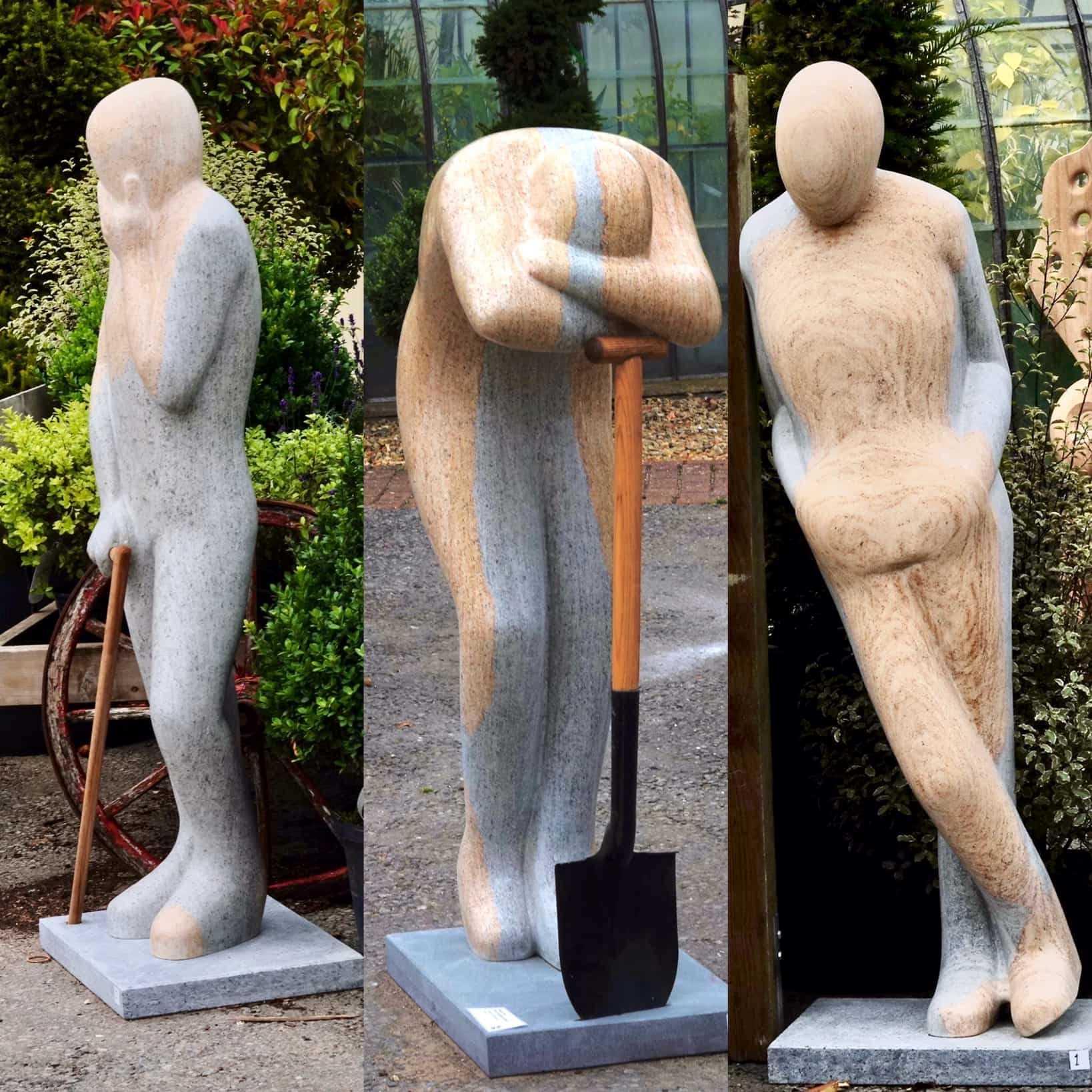 Body Language Life -size Triptych