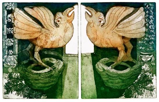 Ancient birds, St Mary\'s Church Iffley