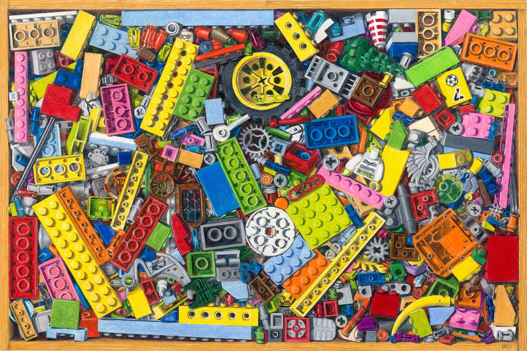 Squashed Plastic Toy Bricks