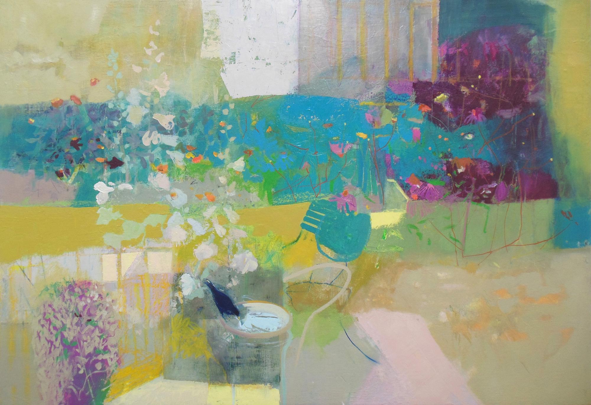Urban Garden, Spring, oil on canvas, 700mm x 1000mm
