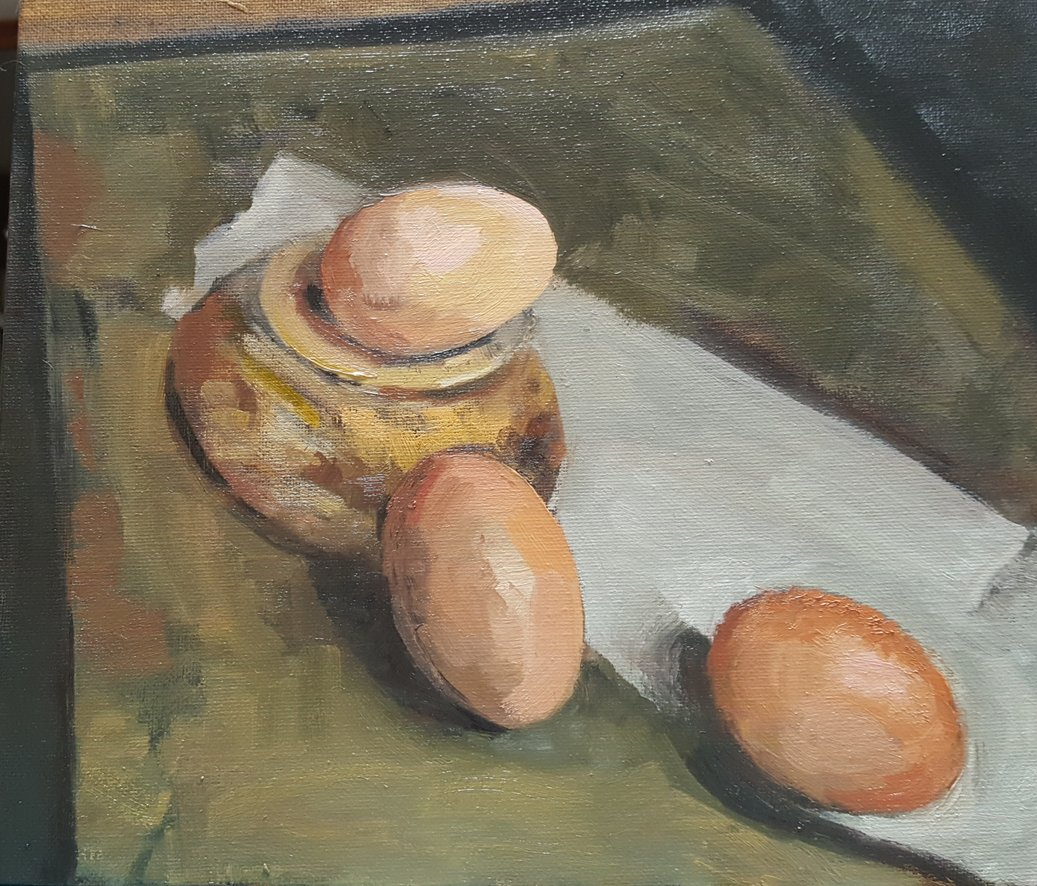 Eggs using the Zorn Palette