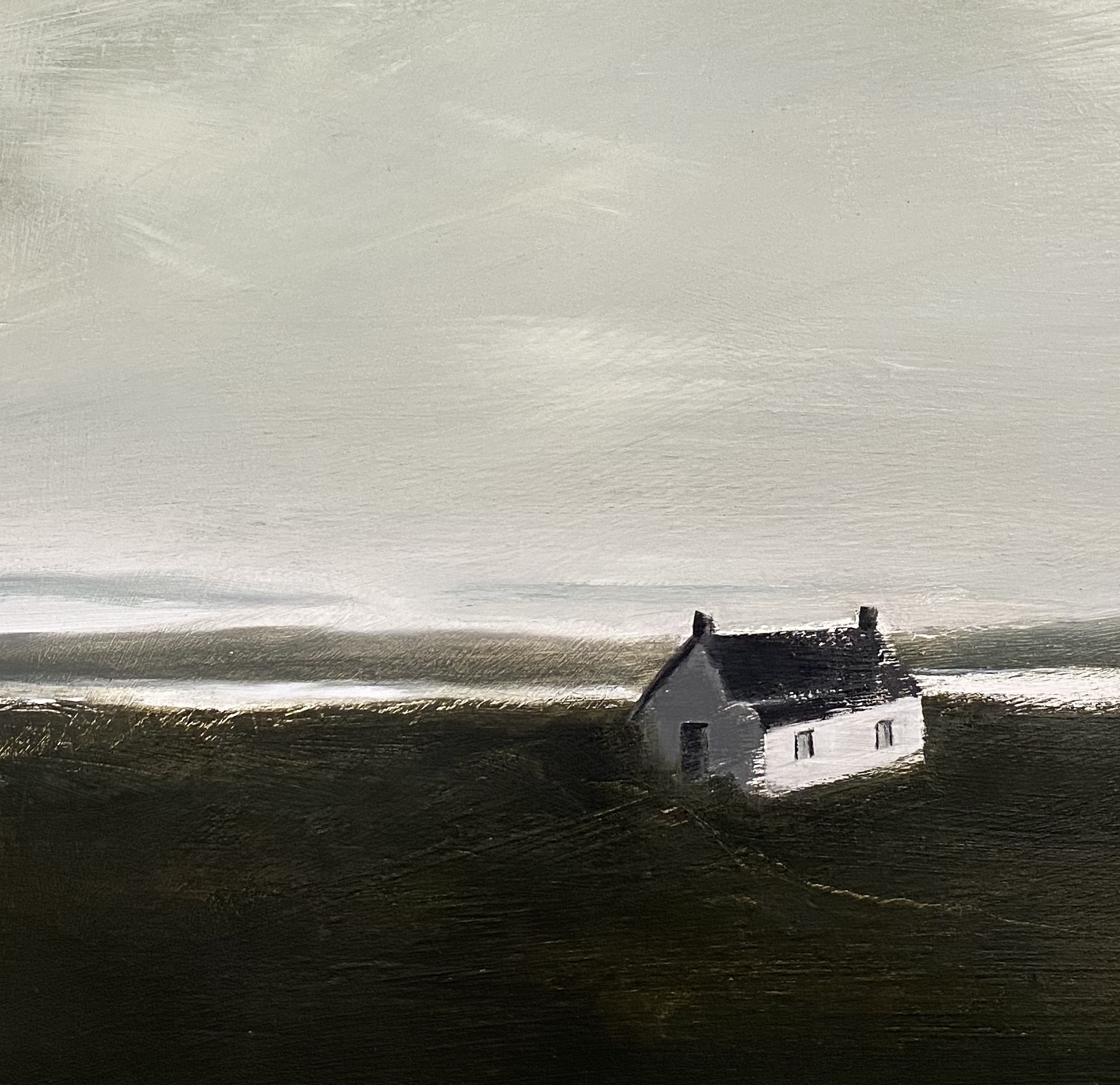 Detail from Isolated House/Scottish sea loch