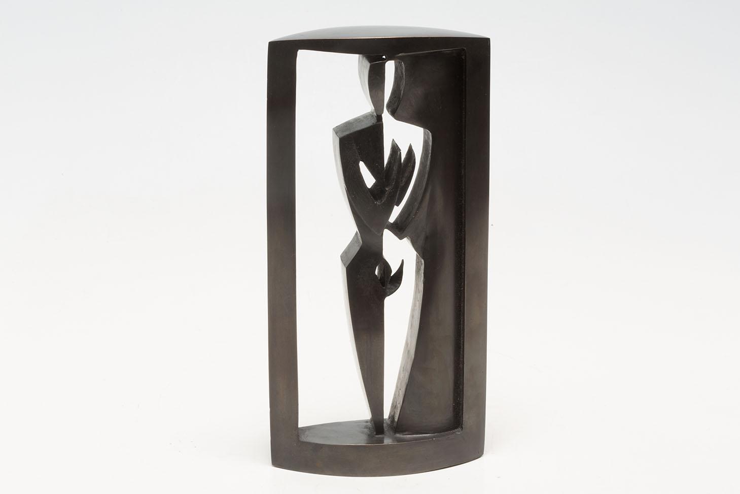 "\""Black and White\"", bronze, 25 x 10 x 5 cm"
