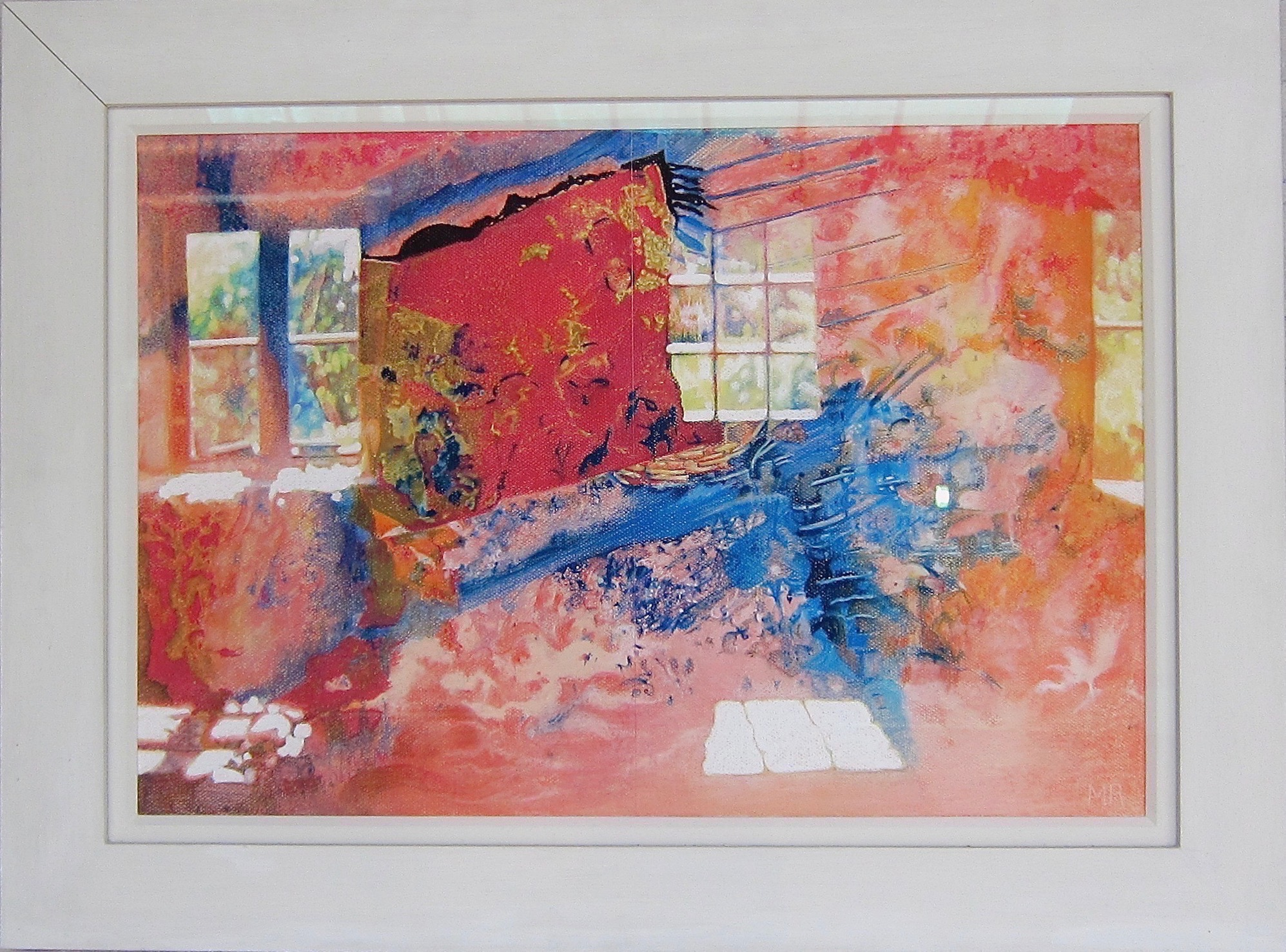 The Oneiric House, pastel on paper, 87 x 65 cms framed