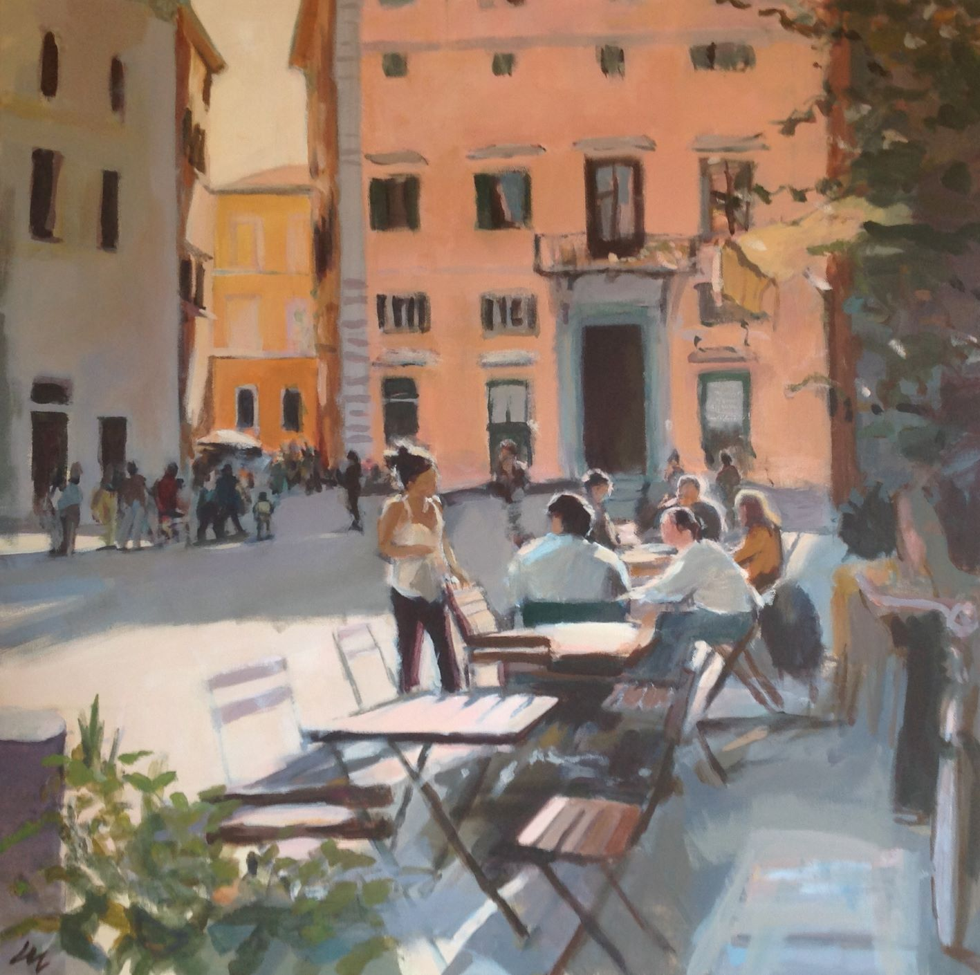 Café in the sunlight, Rome
