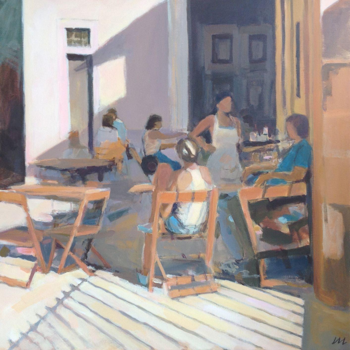 Café shaded corner, Lisbon